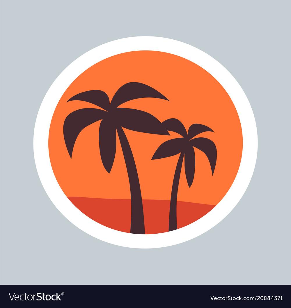 Round sketch of wonder palms