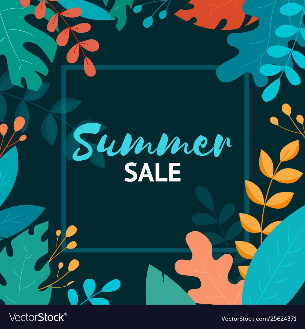 Summer sale banner summer sale poster design for