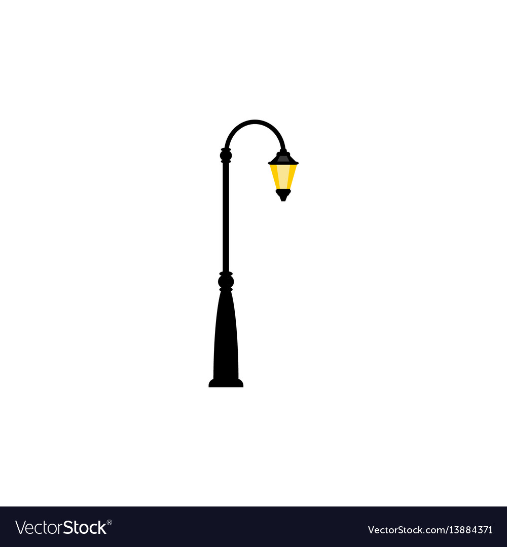 Vintage streetlight with one lamp vector image