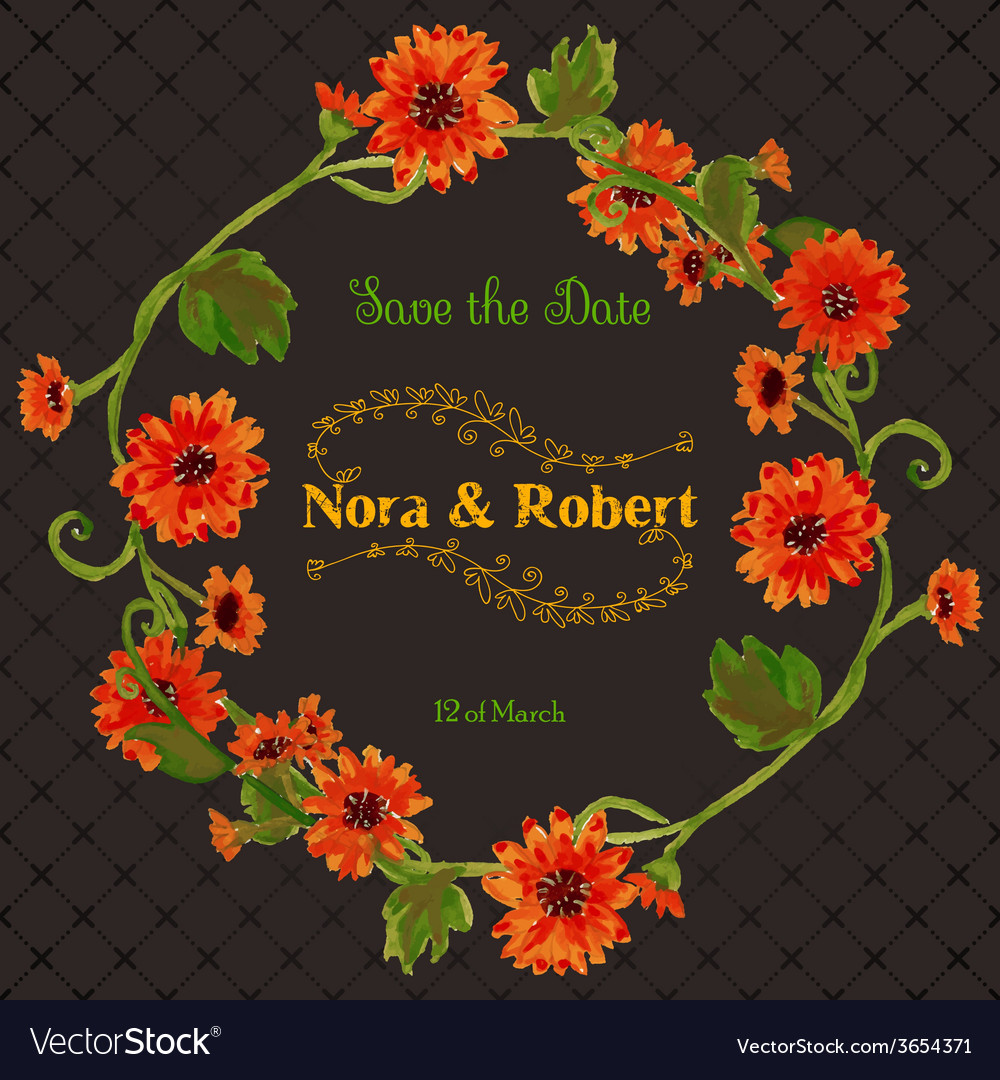 Wedding save date invitation card