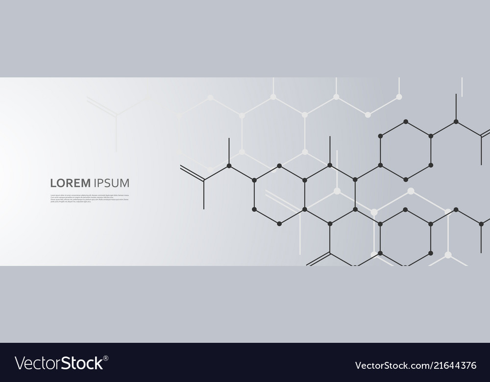 Background with connect hexagon pattern