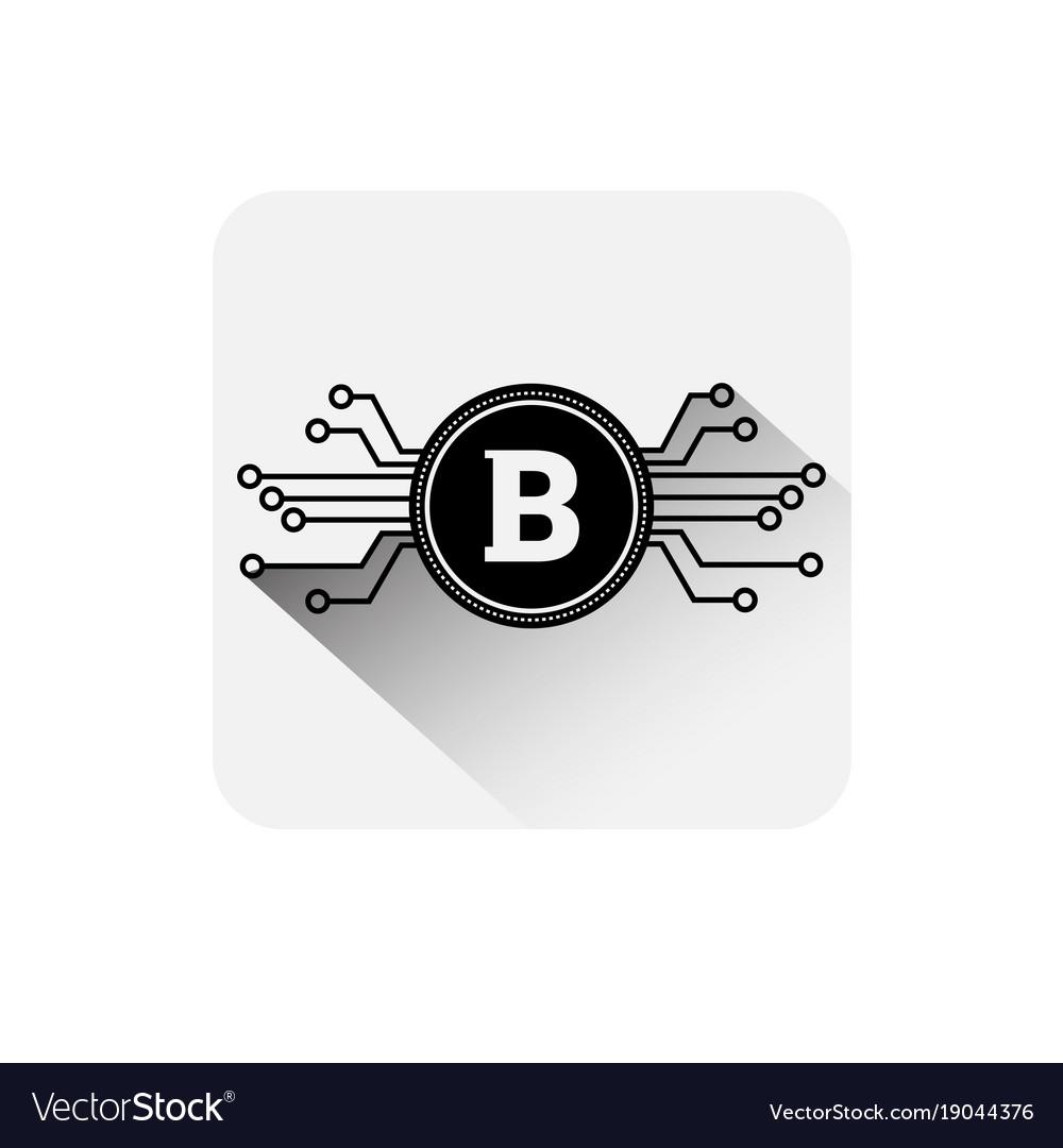 Bitcoin coin symbol icon digital web money crypto