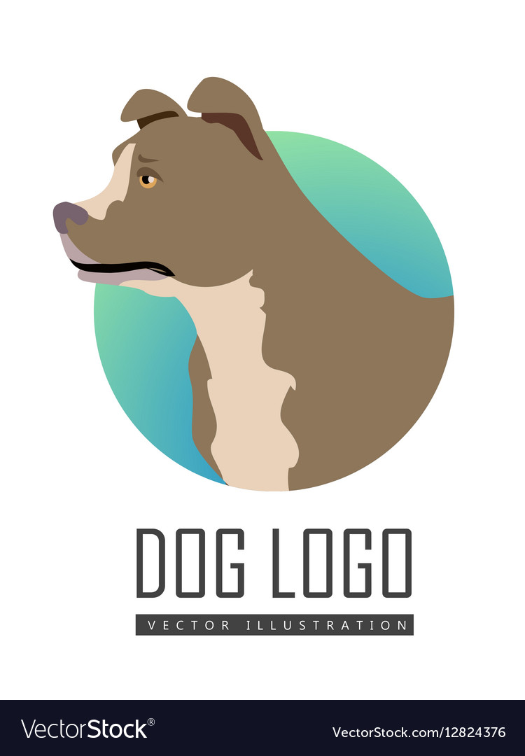 Bullmastiff Dog Logo on White Background