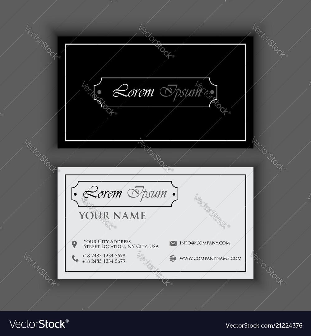 Classic vintage creative and clean business card