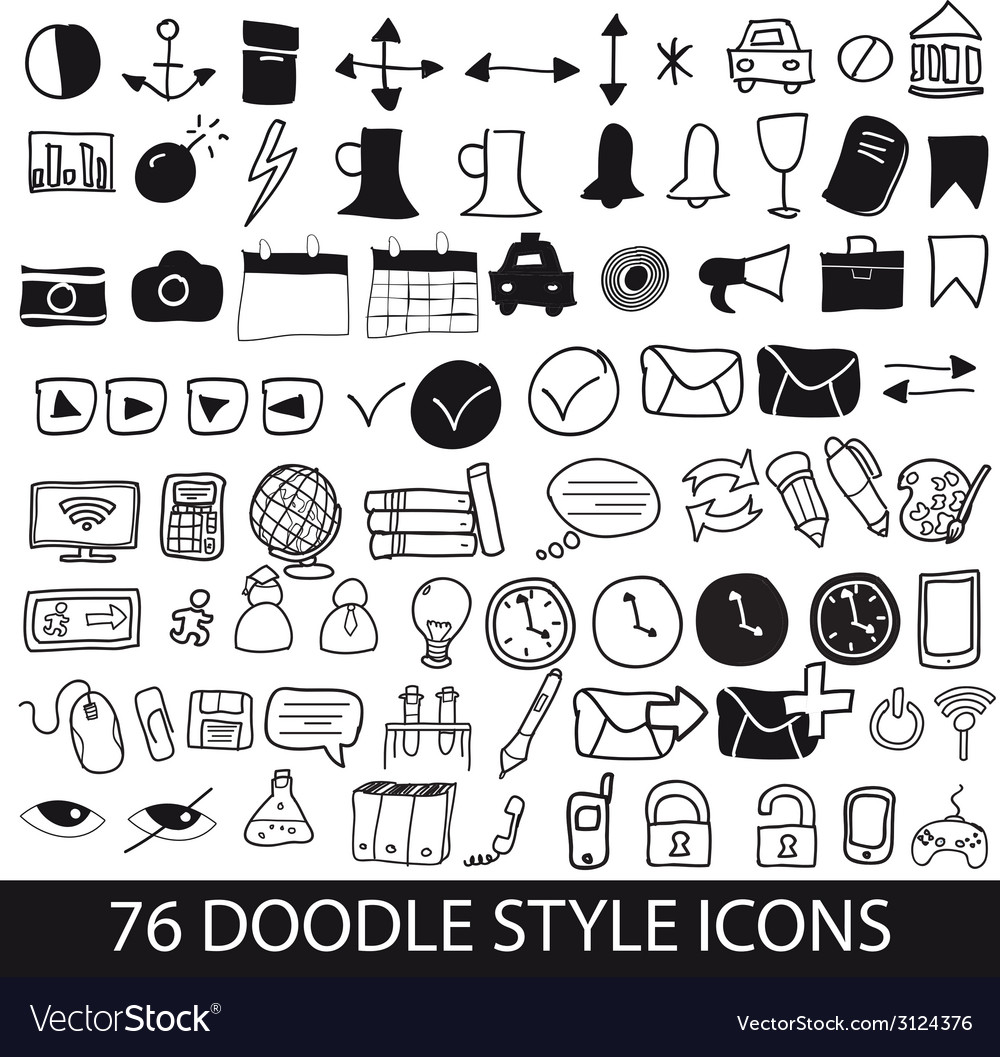 Doodle style icons