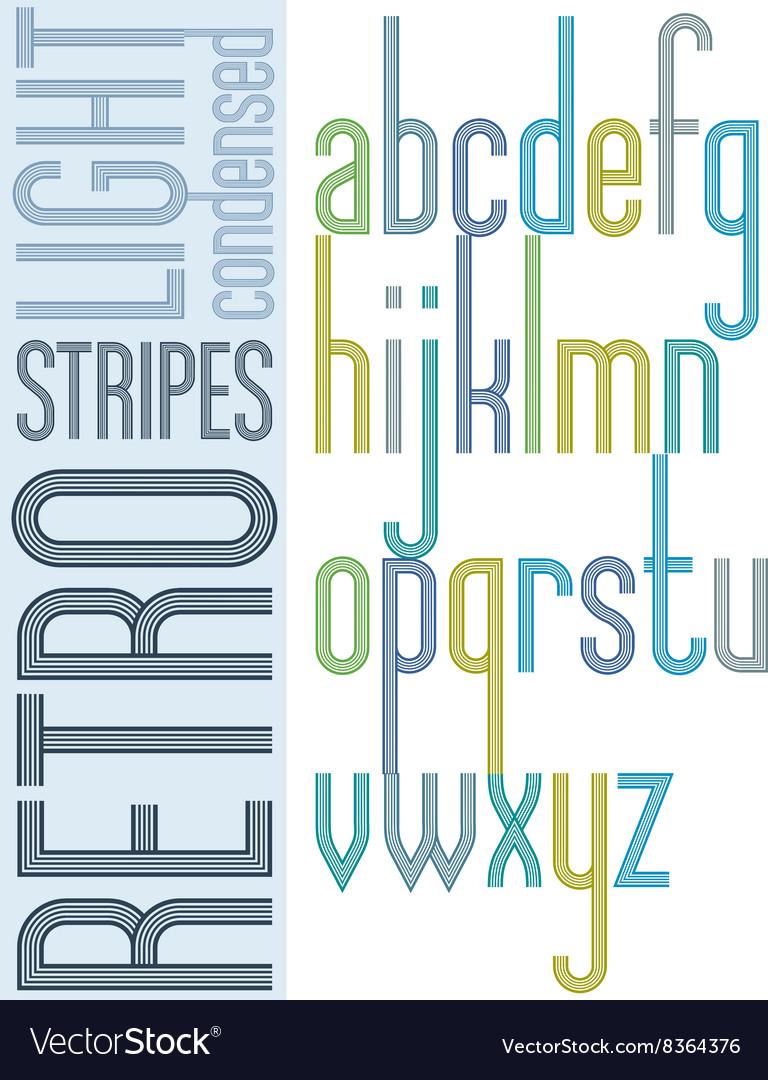 Poster retro bright condensed font striped compact
