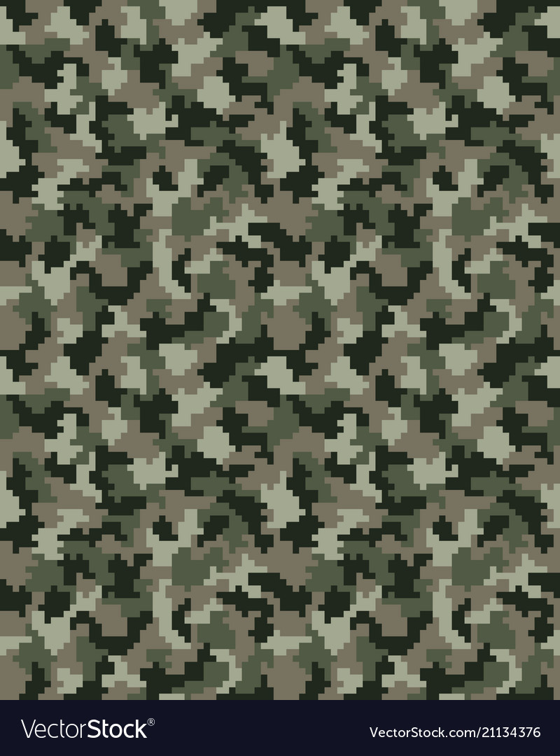 Seamless of digital camouflage
