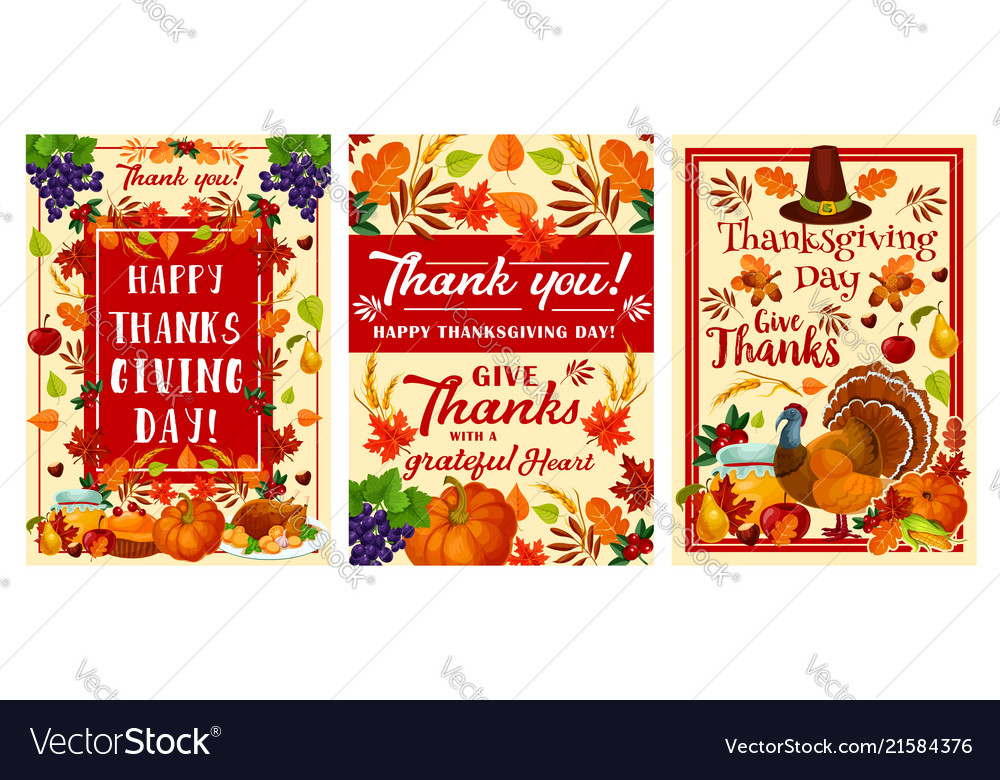 Thanksgiving day holiday greeting banner design vector image m4hsunfo
