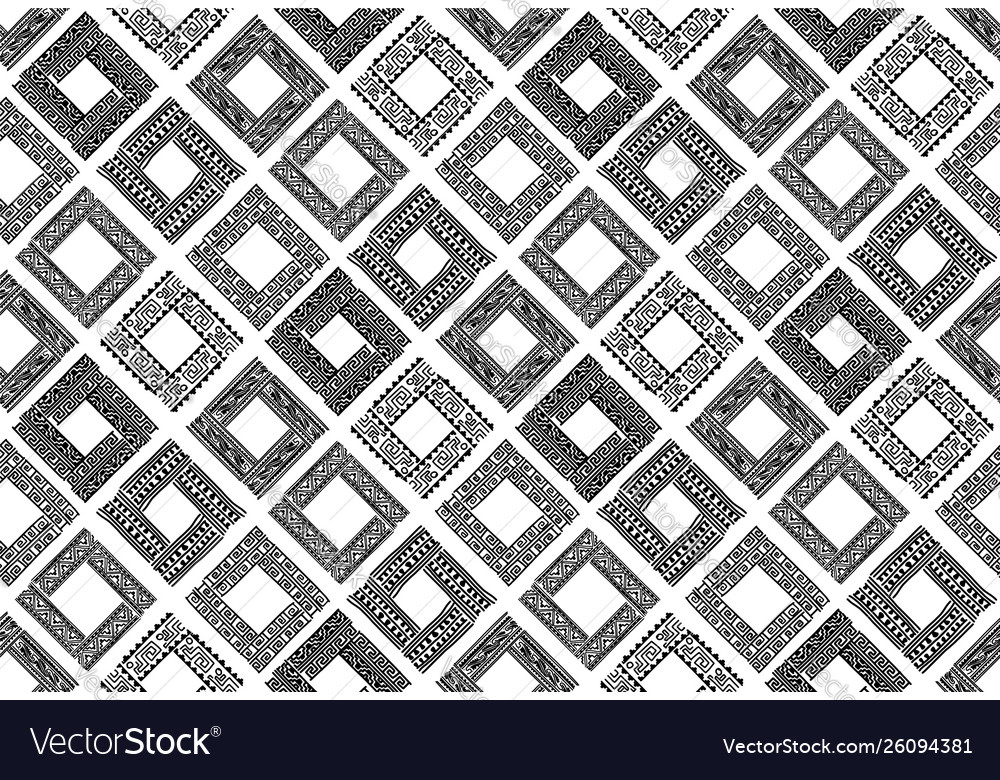 Abstract ethnic frames seamless pattern for your