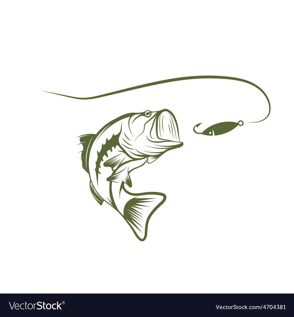 Bass and lure design template