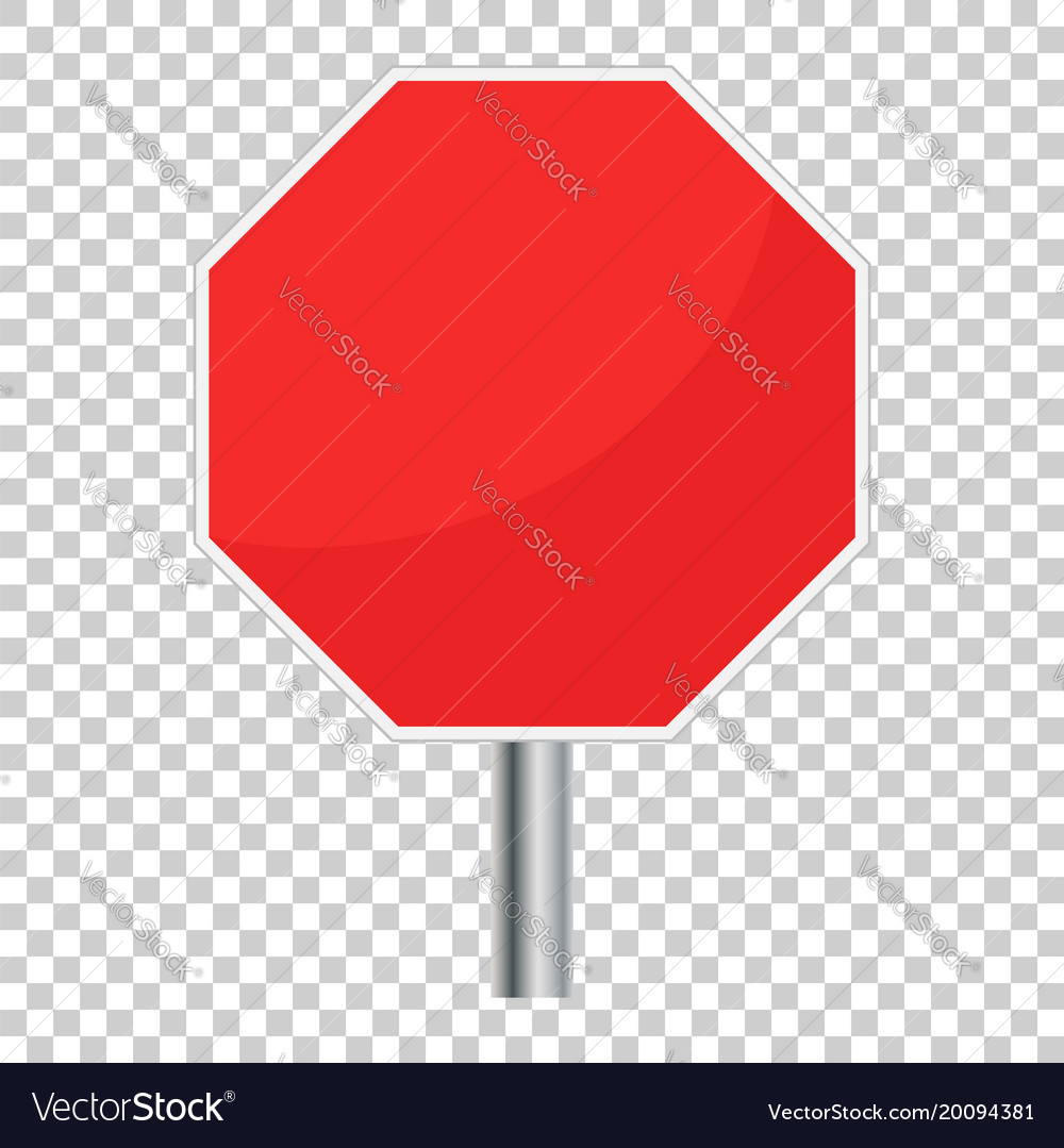 Blank red stop sign icon empty danger symbol