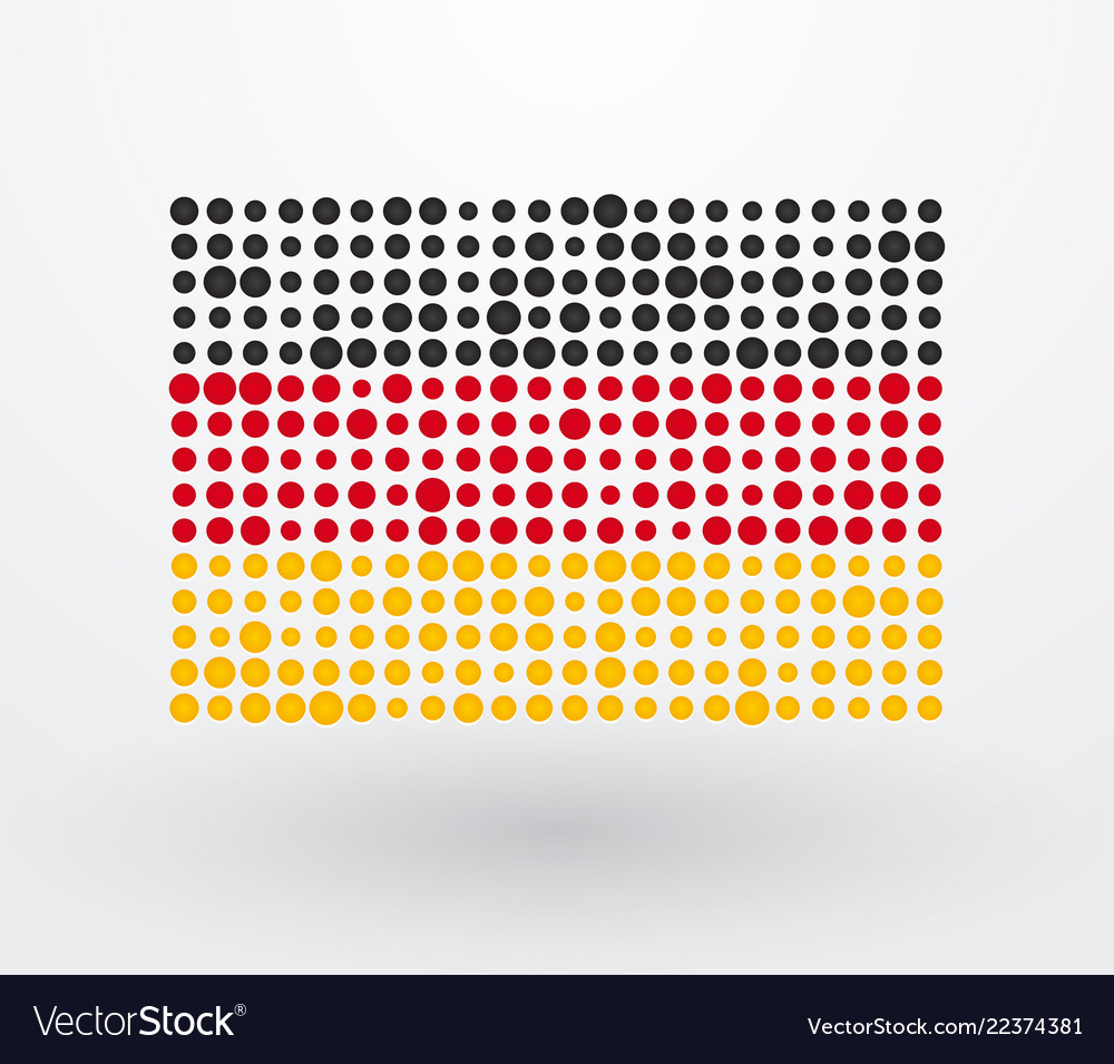 German flag made up of dots