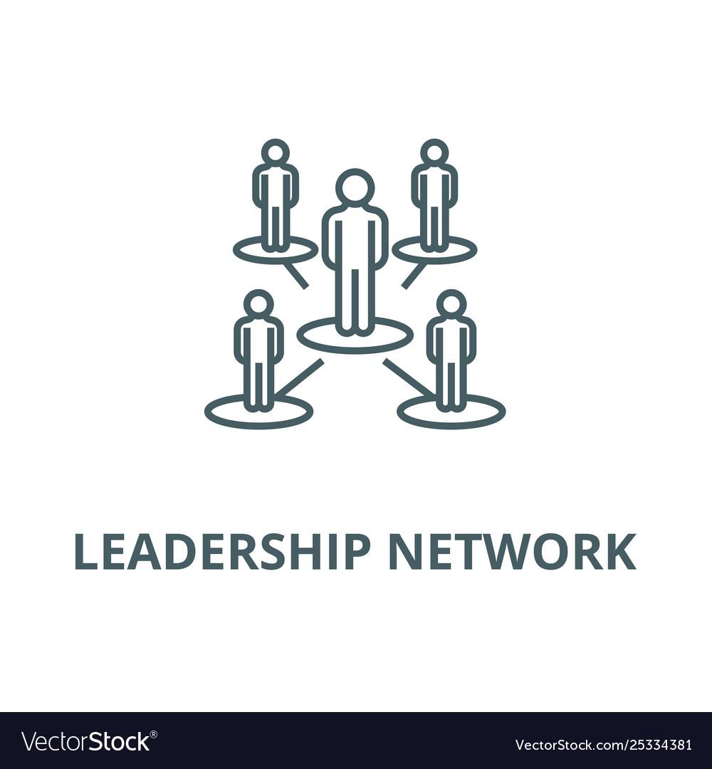 Leadership Networkmultilevel Line Icon Royalty Free Vector