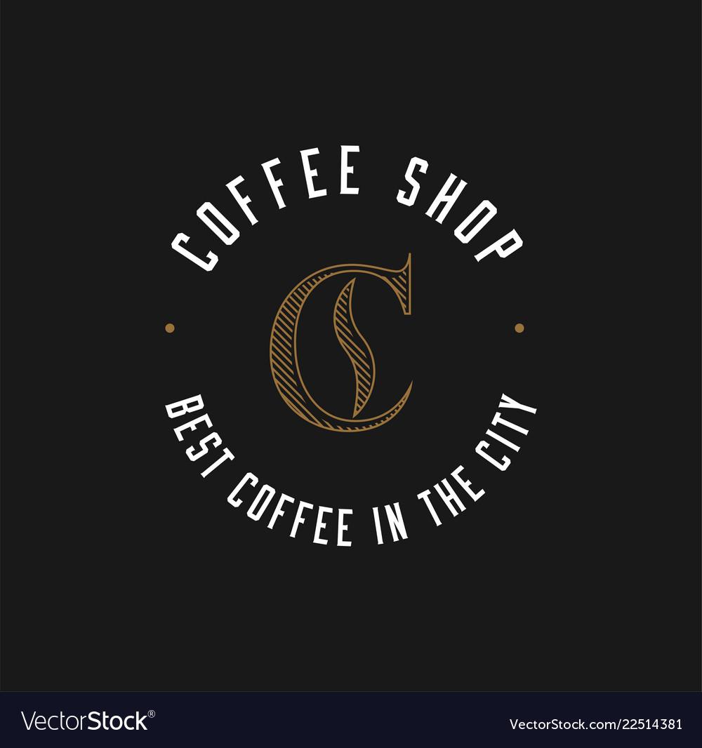 Minimalistic coffee shop logo