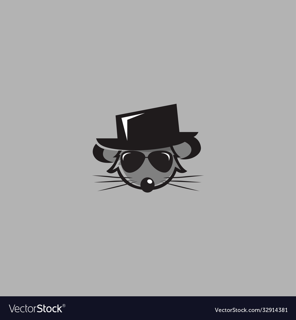 Mouse wearing a hat logo
