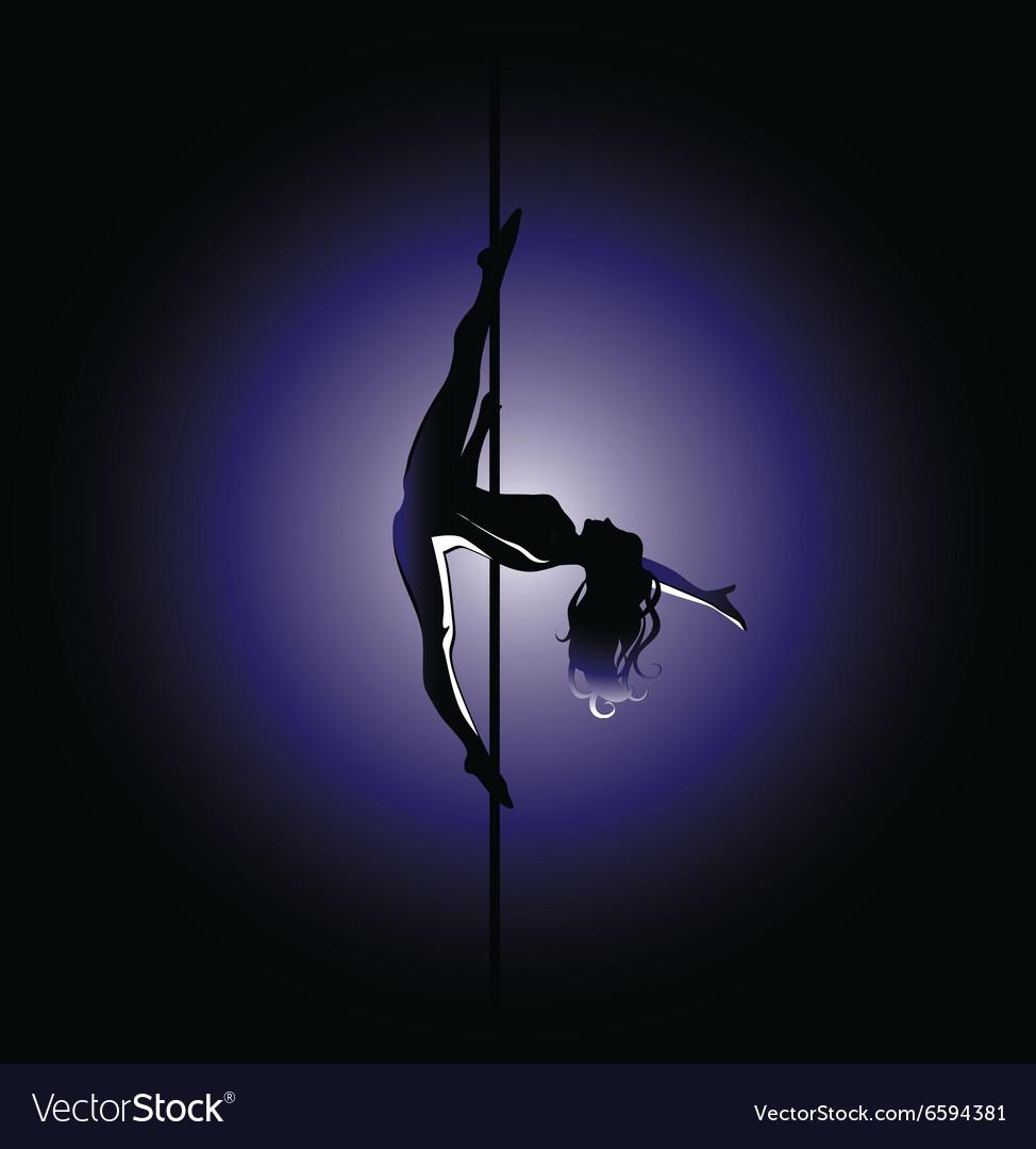 Pole dance kim position