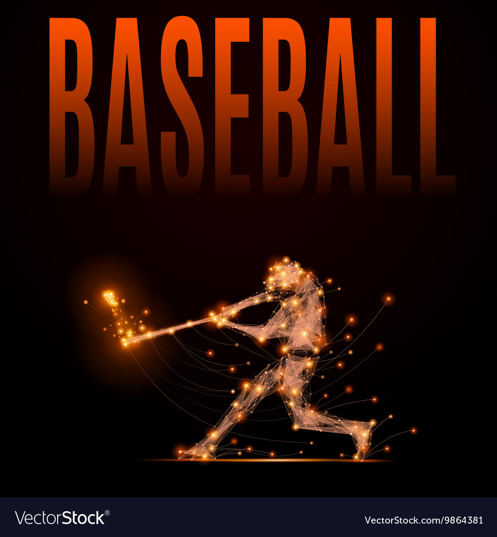 Polygonal baseball player