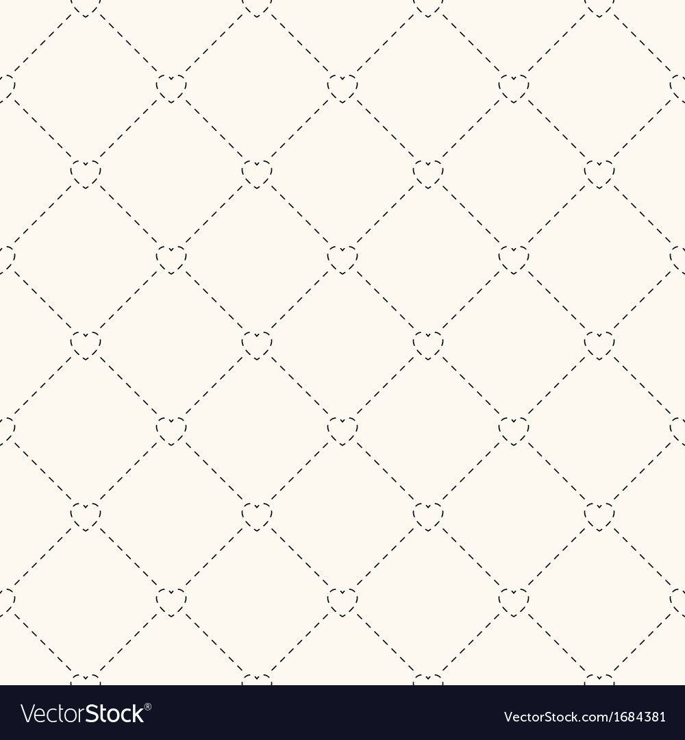 Seamless retro pattern with hearts vector image