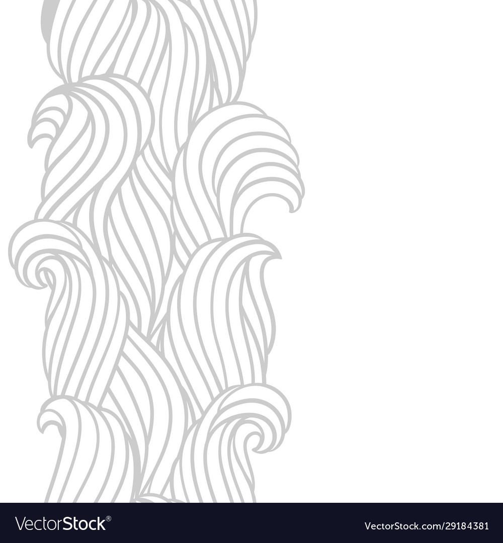 Seamless wave pattern background with sea river