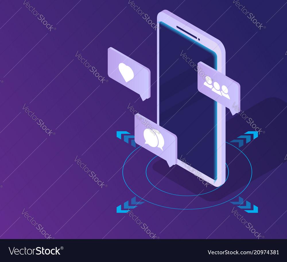 Smartphone with social media network icon