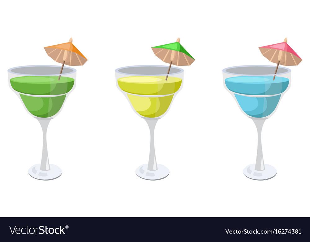 Summer fruits set fresh drink retro style