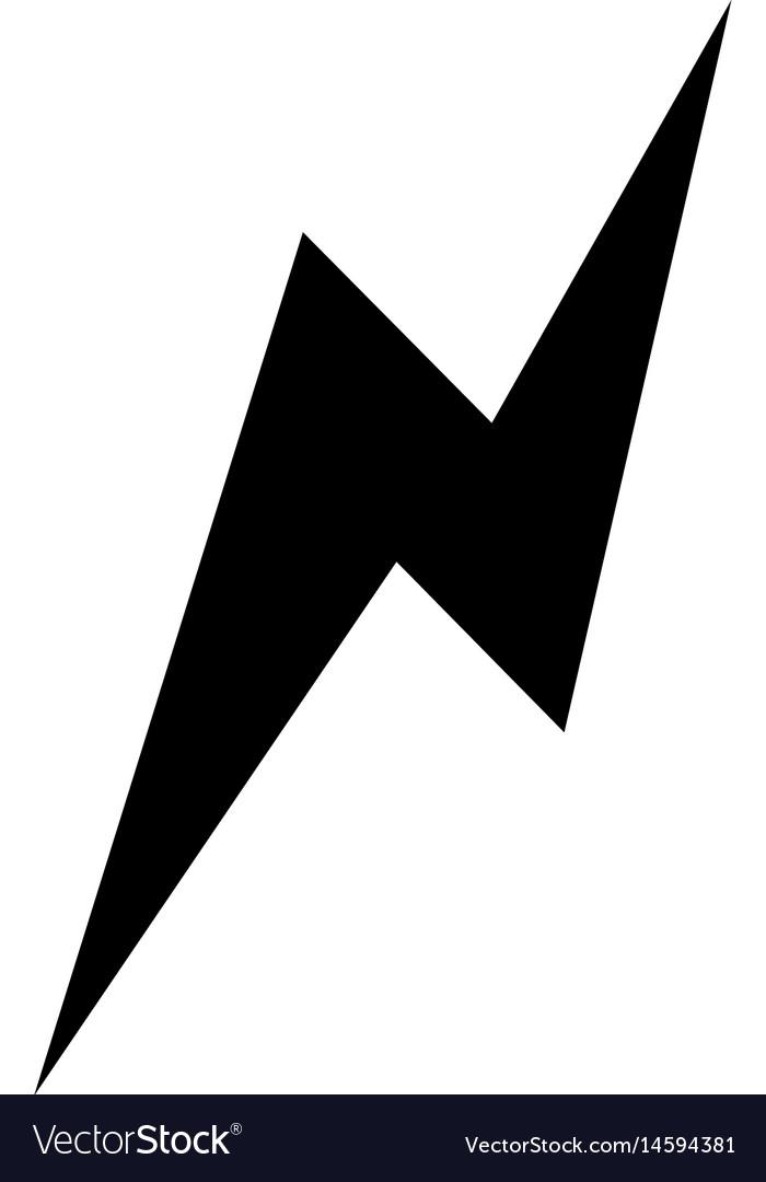 thunder icon image royalty free vector image vectorstock vectorstock