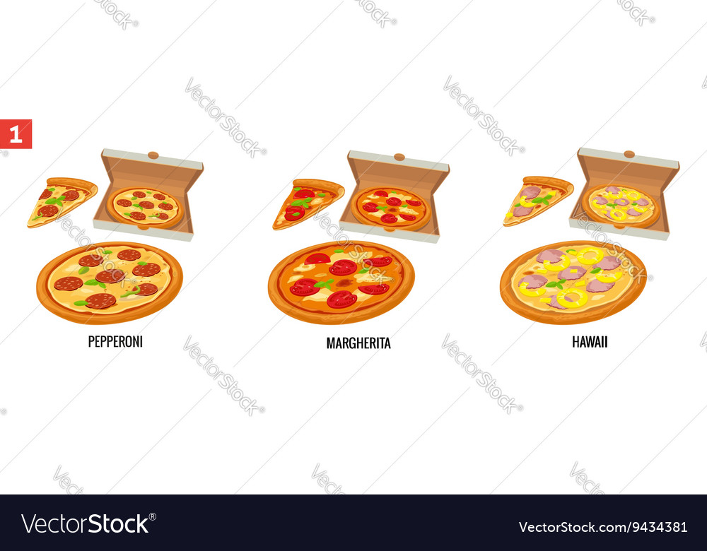 Whole pizza and slices of pizza in open white box