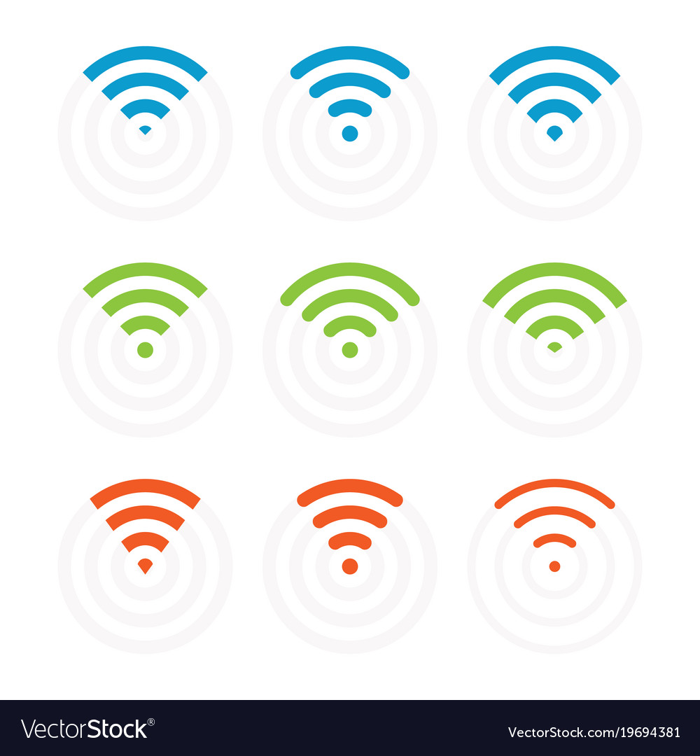 Wifi icons and signs wireless signal