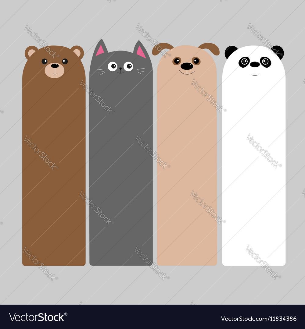 Animal head set Cartoon kawaii baby bear cat dog