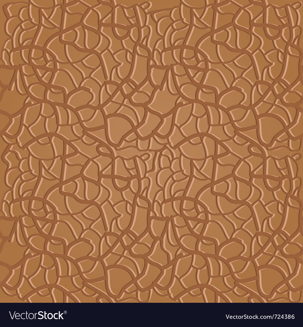 Brown seamless leather pattern vector image