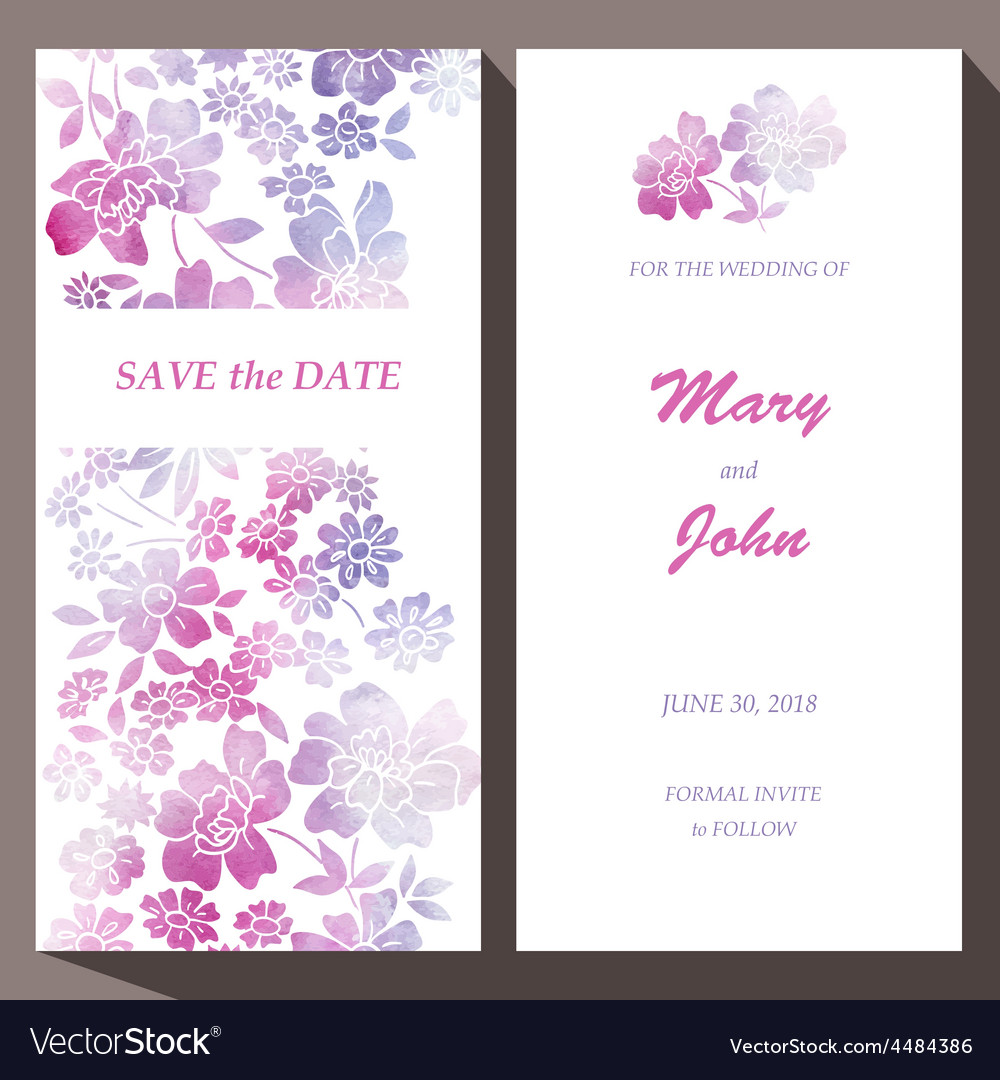 Card template for Save The Date baby