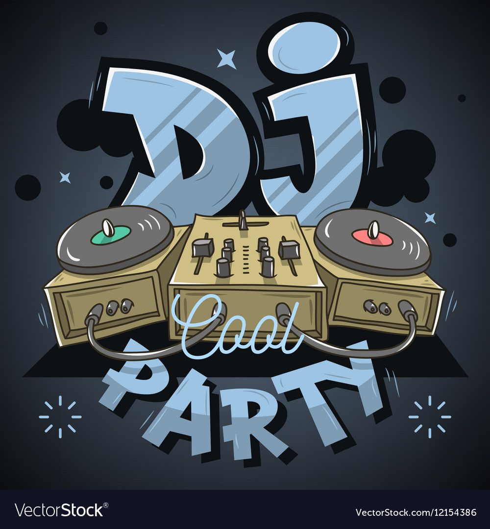 Dj Cool Party Design For Event Poster Sound Mixer