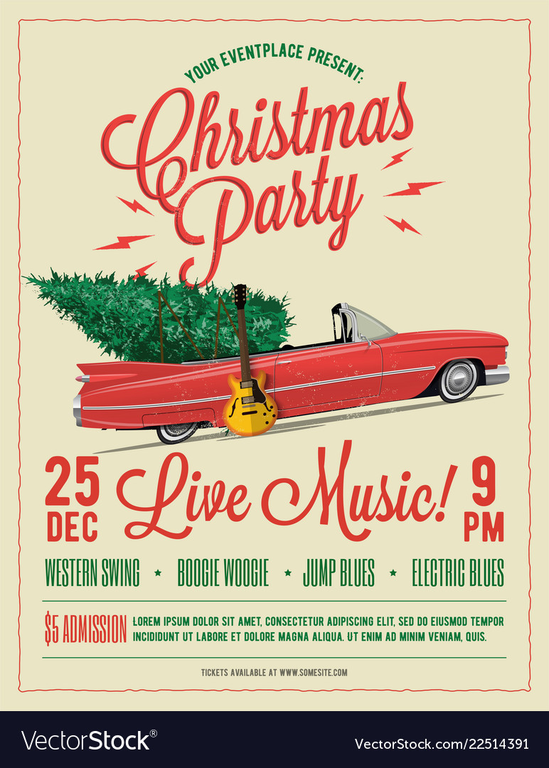 Christmas party flyer or poster template