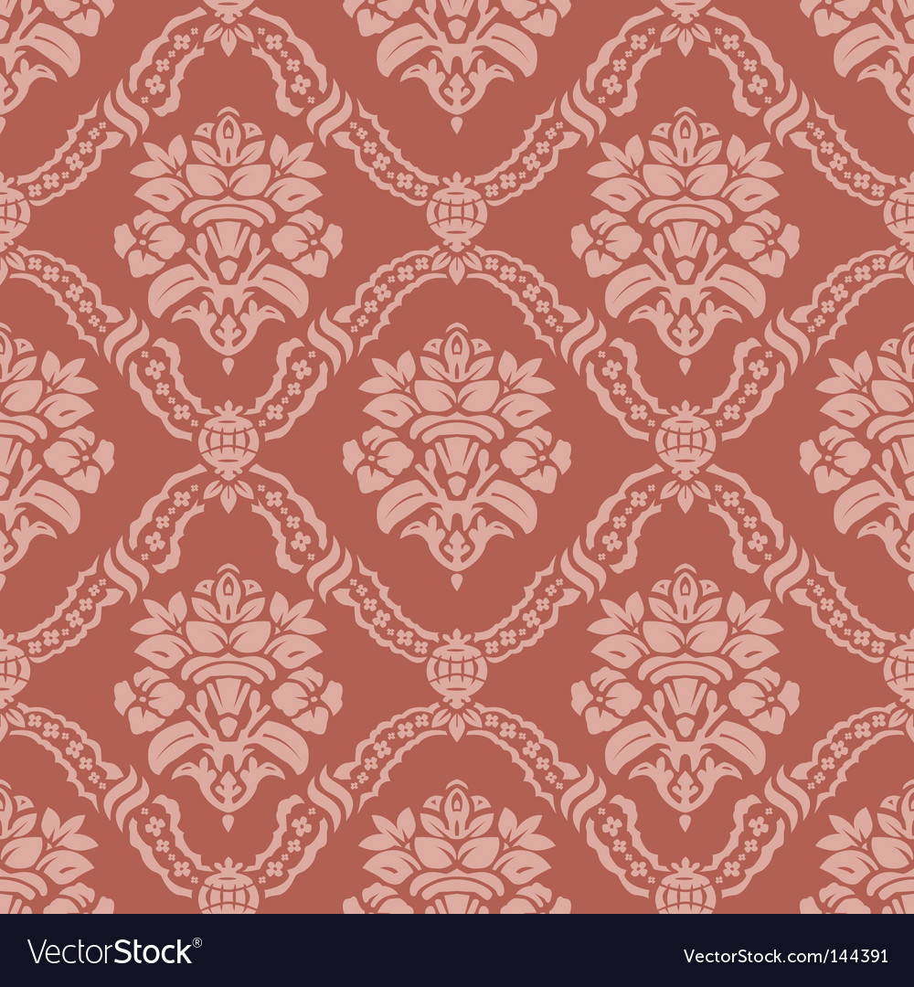 Floral wallpaper pattern vector image
