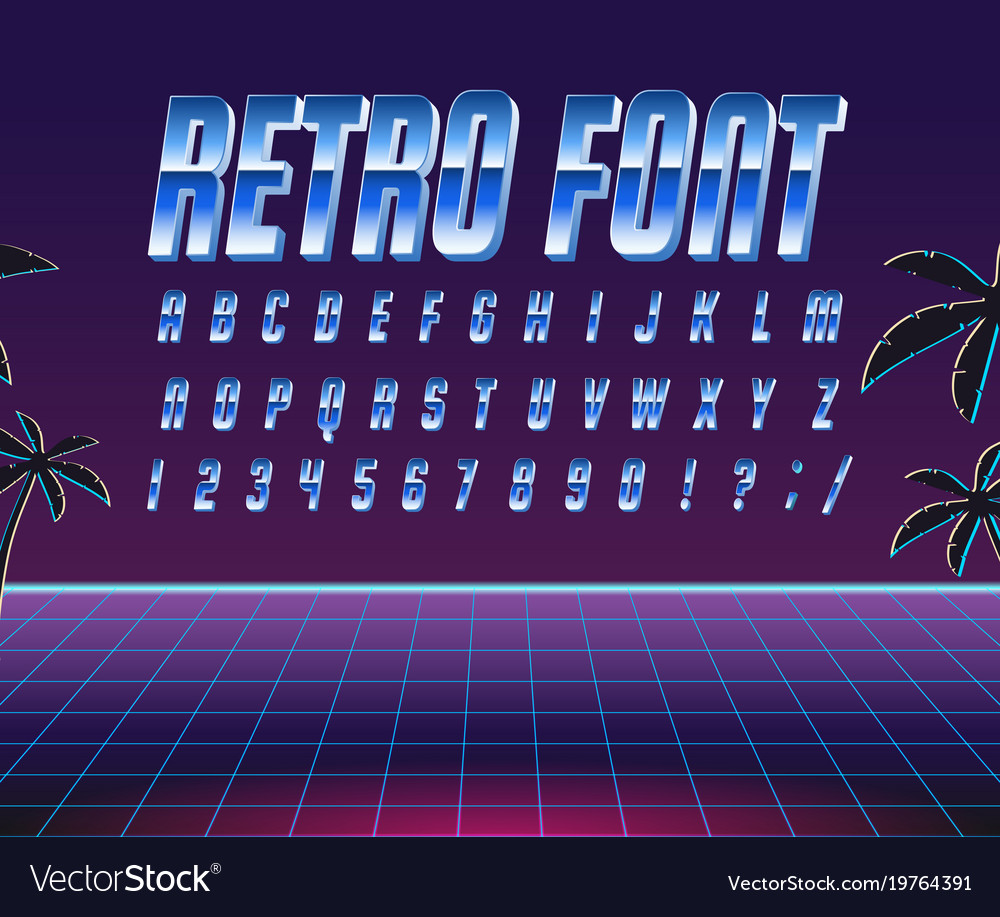 Font style 80 s