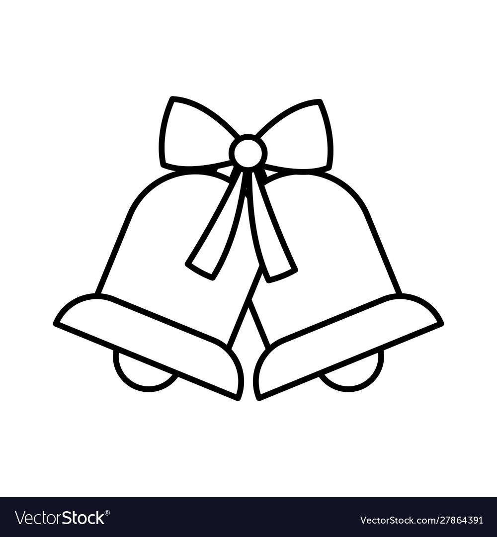 Merry christmas celebration jingle bells gift bow