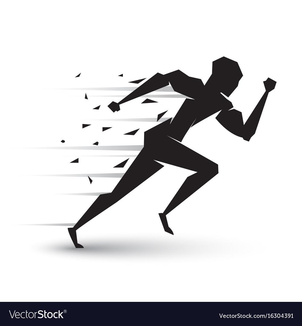 Motion of running man vector image