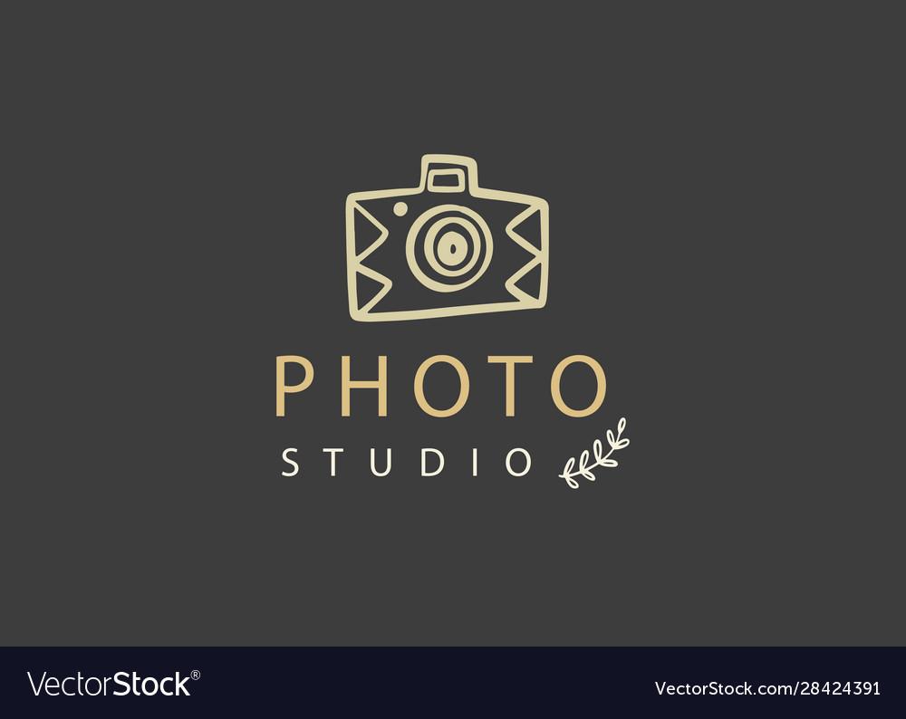 Photography logo badge photo studio emblem