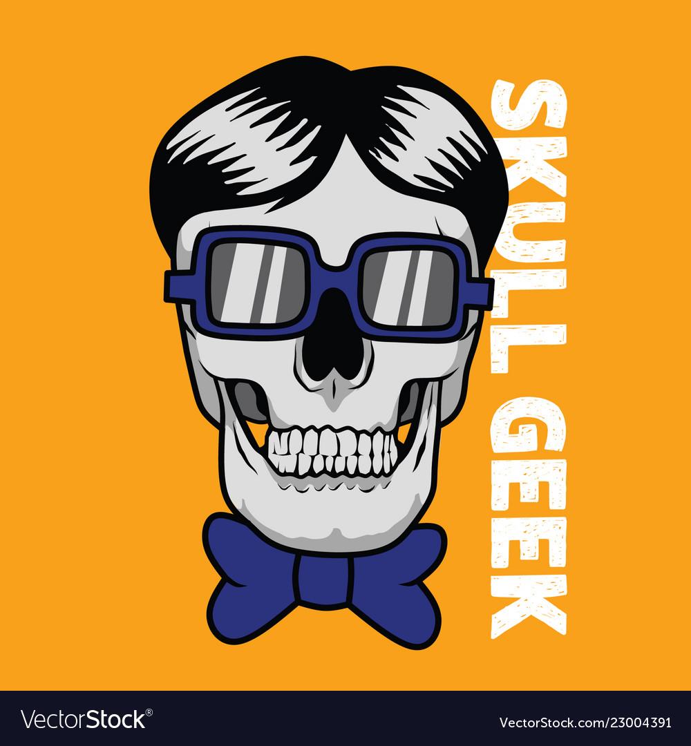 Skull geek for graphic goods