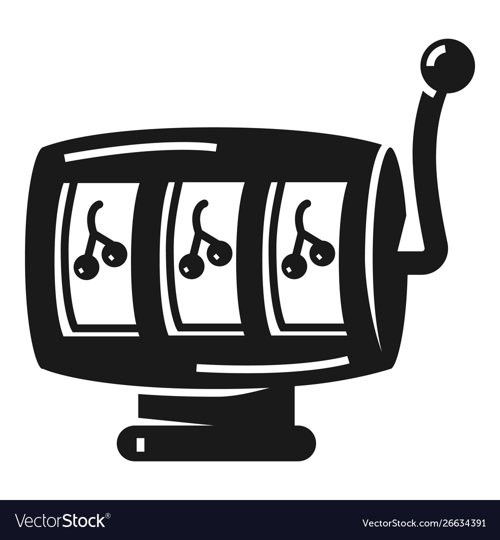 Simple slot machine icons royalty free vector image.
