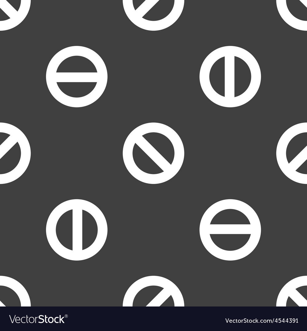 The No symbol pattern