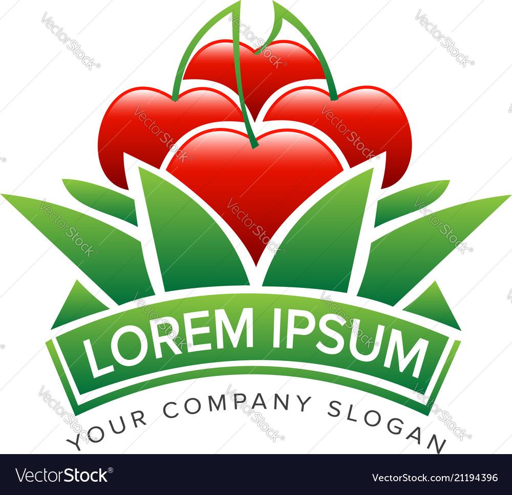 Apple gardening logo design concept template