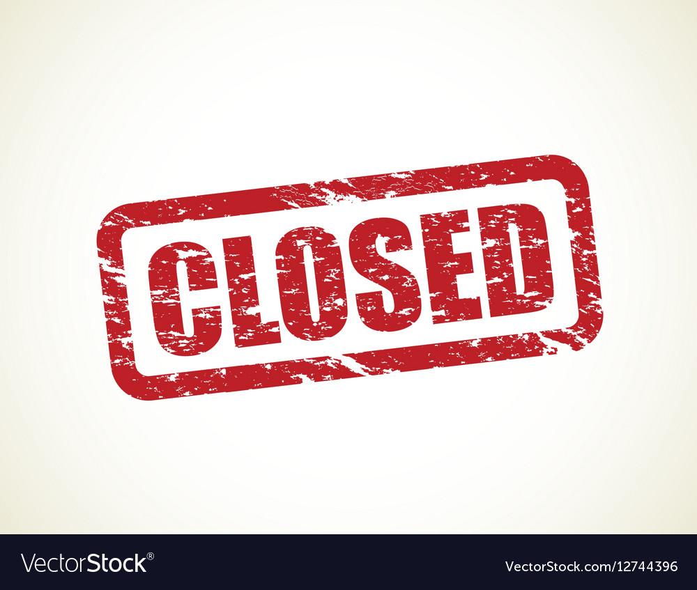 Closed stamp vector image
