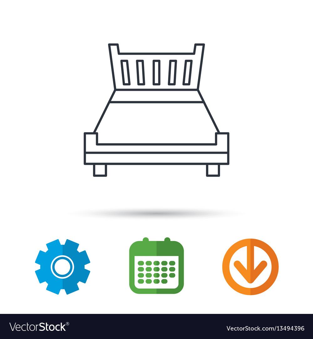 Double bed icon sleep symbol