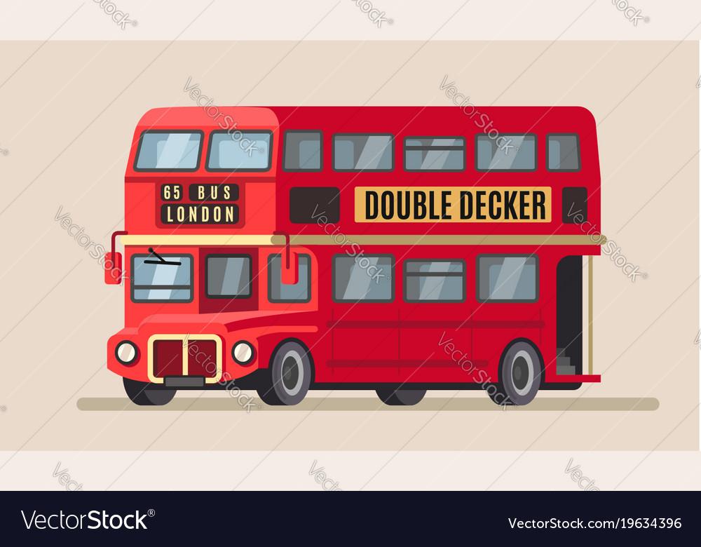 Double decker city bus vector image