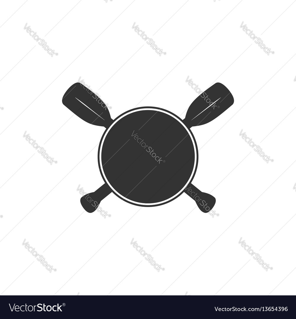 Rowing blank badge template for creating custom