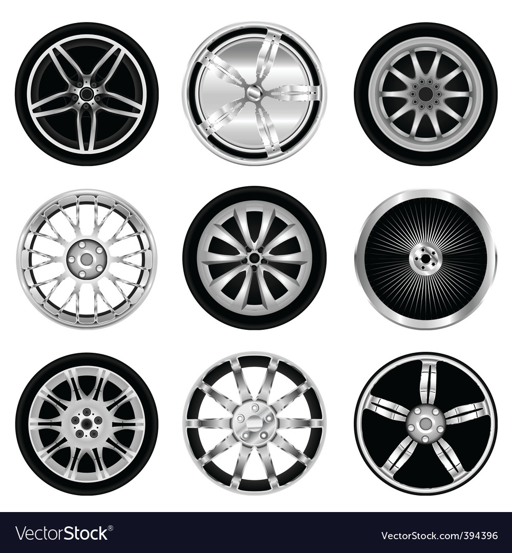 Sporty aluminum wheel vector image