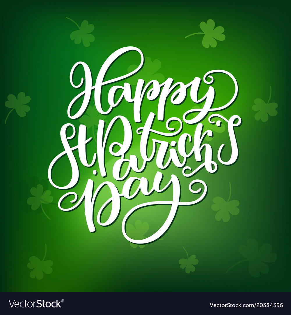 St patricks day lettering holiday poster