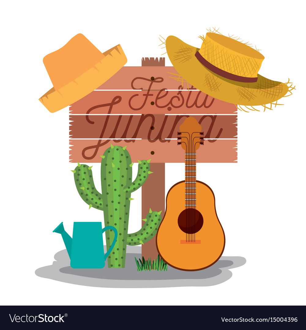 White background poster with wooden fence of festa