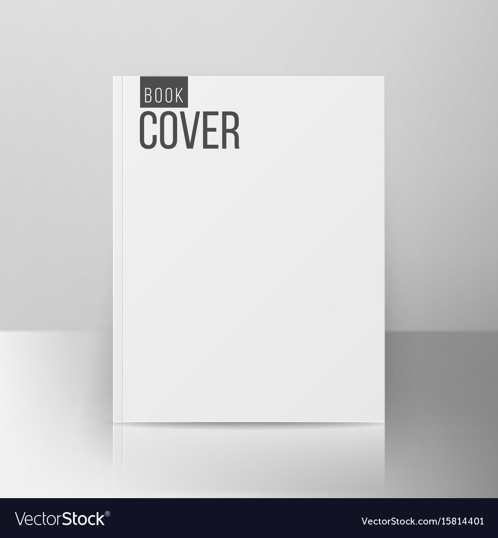 Book cover template realistic